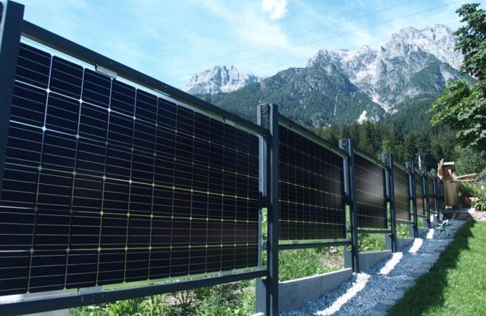 nachhaltige Energie durch Solar-Zäune