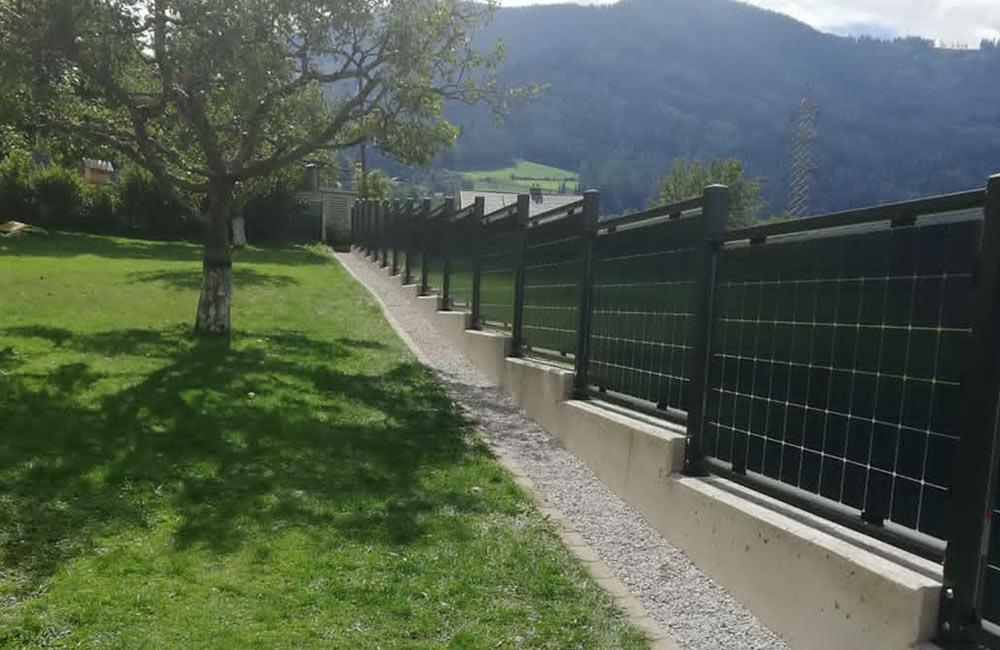 Solar-Zäune generieren grünen Strom