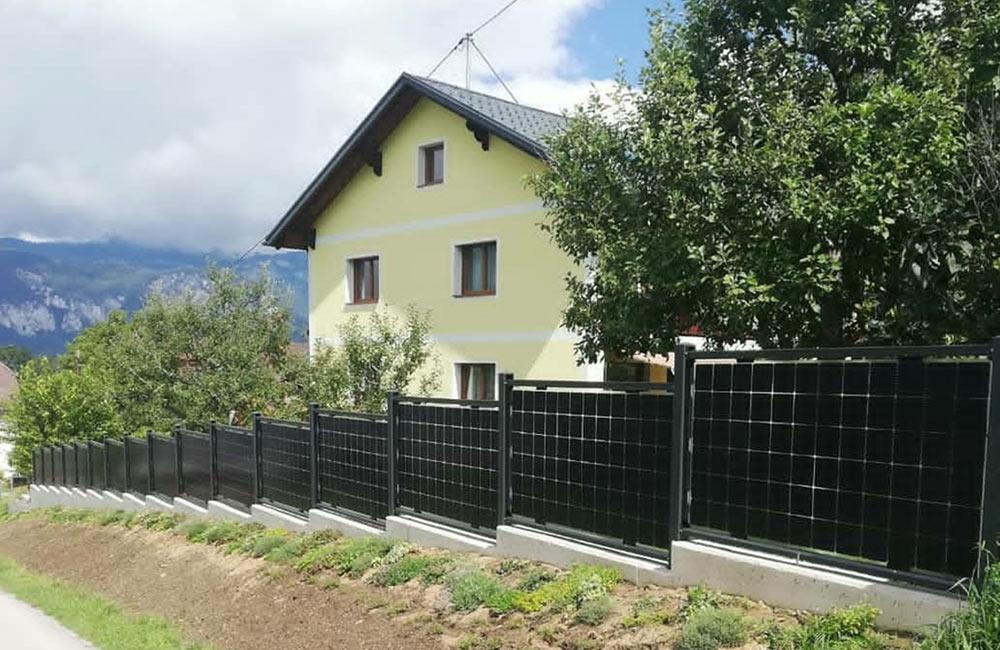 Solar-Zäune dienen zusätzlich als Sichtschutz