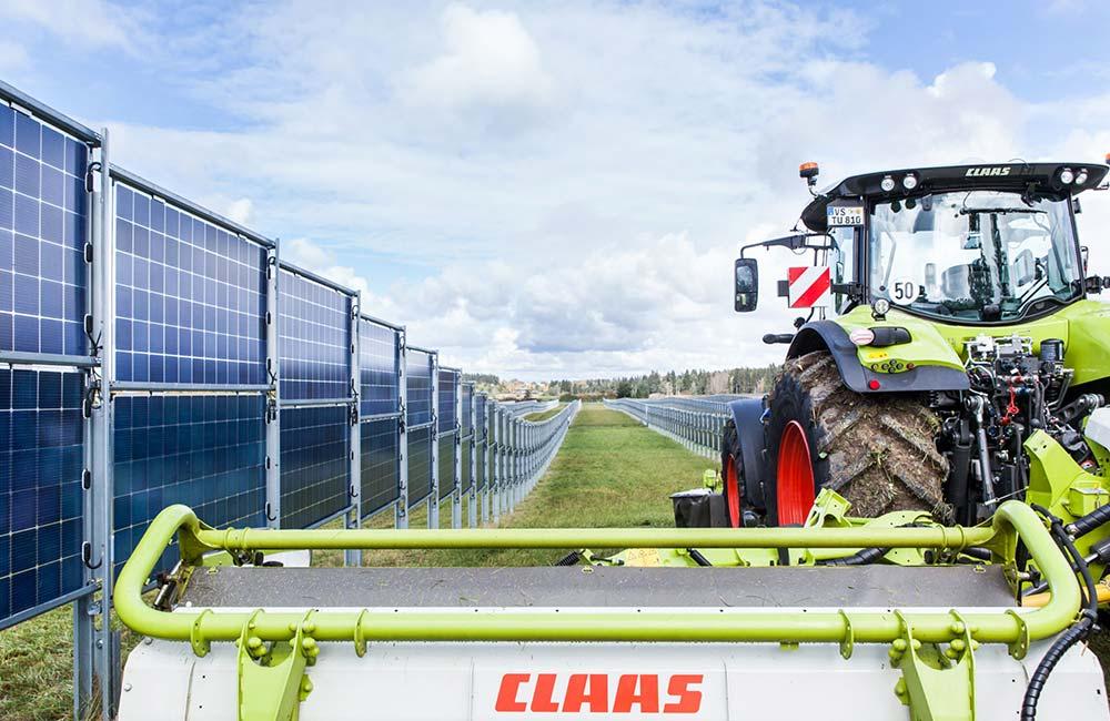 In der Landwirtschaft können Flächen durch Agri-Photovoltaik doppelt genutzt werden