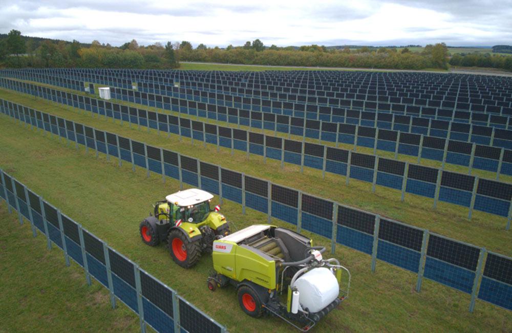 Photovoltaik als Installation mit Solarzäunen